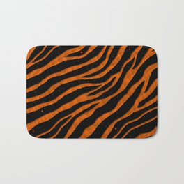Ripped SpaceTime Stripes - Orange Bath Mat