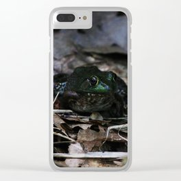 shiny frog Clear iPhone Case