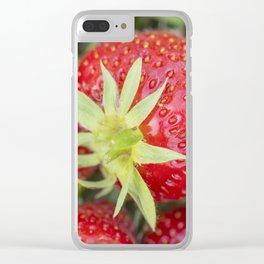 Fresh organic strawberries Clear iPhone Case