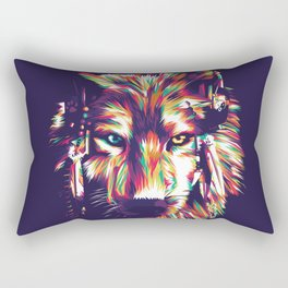 Lonely Wolf Rectangular Pillow