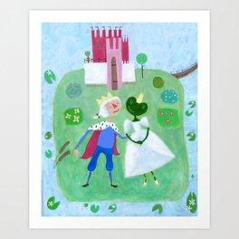 The Frog Maiden Art Print