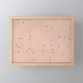 Flying birds Framed Mini Art Print