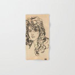 """Egon Schiele """"Mädchenkopf (Frau Sohn)"""" Hand & Bath Towel"""