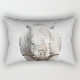 Rhino 2 - Colorful Rectangular Pillow