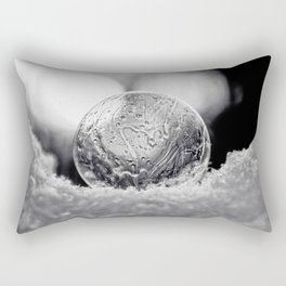 B&W Bubble Fine Art Rectangular Pillow