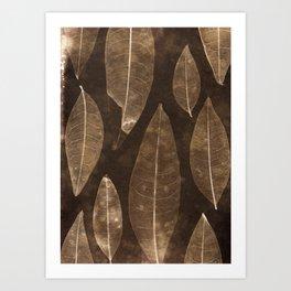 Botanical Pattern 2 (brown) Art Print