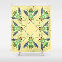 bug Shower Curtains featuring Bug by MinaSparklina