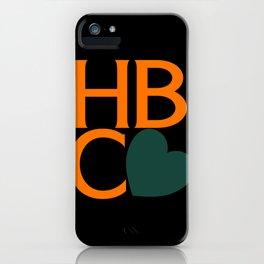 HBCU Love Typography Art No 02 iPhone Case