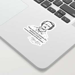 Edgar Allan Poe Quotes - Inspirational On Love, De Sticker