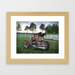 #KevinHarvick  #NASCAR V-8 Bike Framed Art Print