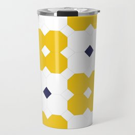 Yellow Octagons  Travel Mug