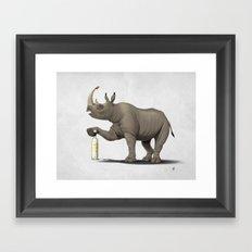 Cork it, Dürer! [HD] (Wordless) Framed Art Print