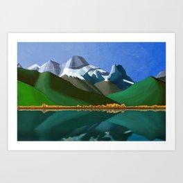 Mt. Lougheed and Gap Lake Art Print