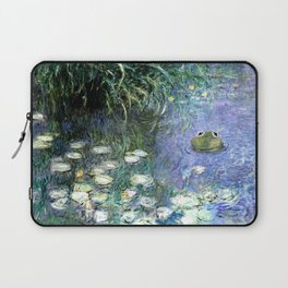 Water Lilies with Frog Laptop Sleeve