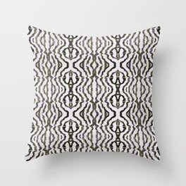 Black Coral Throw Pillow