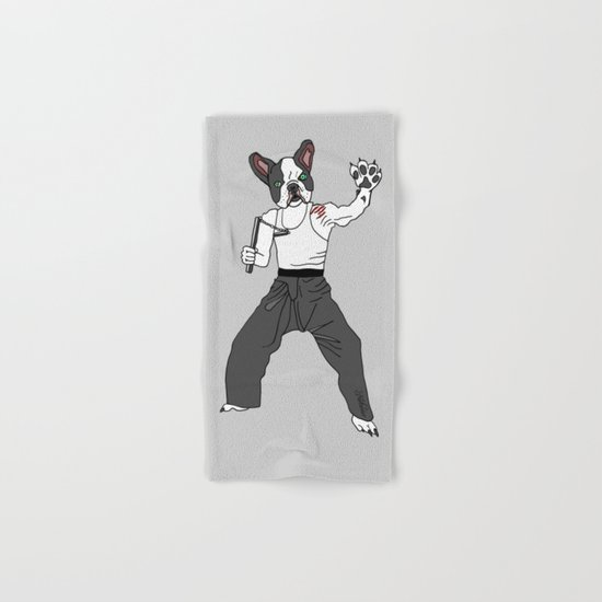 Kungfu Bulldog Lee Hand & Bath Towel