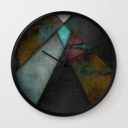 """""""Grunge metal pattern"""" Wall Clock"""