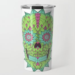 Skull with a floral style Travel Mug