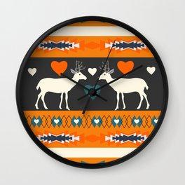 Ethnic romantic deer Wall Clock