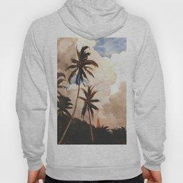 Palm Trees Bahamas Circa 1888 By WinslowHomer   Reproduction Hoody