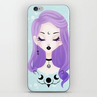pastel goth iPhone & iPod Skins featuring Pastel by Paz Huichaman