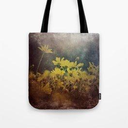 Abstract Yellow Daisies Tote Bag