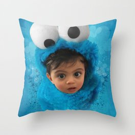 LEVi (cookie monster) Throw Pillow