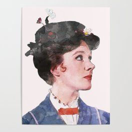 Mary Poppins - Watercolor Poster