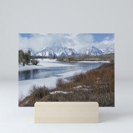 Grand Tetons from Oxbow Bend Mini Art Print