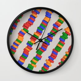 Colorful cylinders Wall Clock