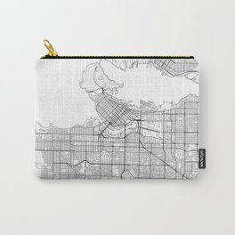 Vancouver Map White Carry-All Pouch