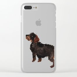 watercolor dog vol3 dachshund Clear iPhone Case
