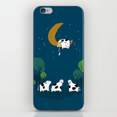 A cow jump over the moon iPhone Skin