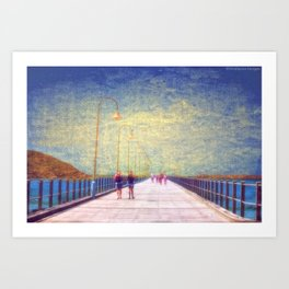 Jetty Walking Art Print