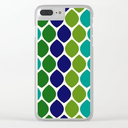 Abstract Snakeskin Pattern Clear iPhone Case