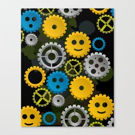 Happy Gears Canvas Print