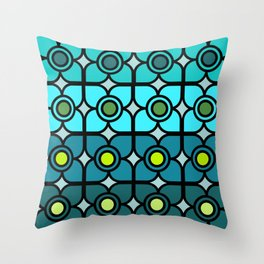 Silvery Blue Succulents Throw Pillow