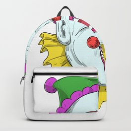 Vintage Circus Clown Smiling Drawing Backpack