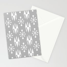 Mid Century Modern Abstract Atomic Diamonds 237 Stationery Cards