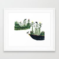 ships Framed Art Prints featuring Ships by kiwiroom