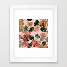 tropical colors Framed Art Print