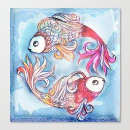 2 Fish Canvas Print