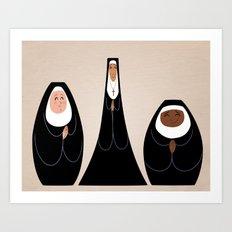 Three Nuns Art Print