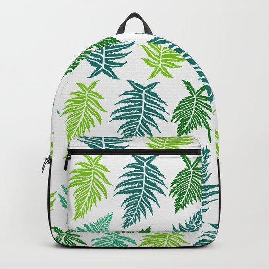 Inked Ferns – Green Palette Backpack