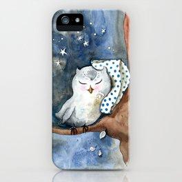 Sleepy Little Owl iPhone Case