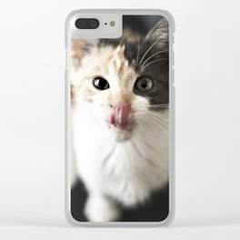 Kitty Noms Clear iPhone Case