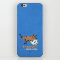 trex iPhone & iPod Skins featuring problem solved... trex with arms.. by studiomarshallarts