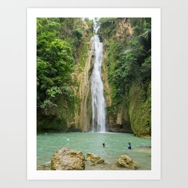 Mantayupan Waterfalls, Cebu, Philippines Art Print