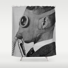 Classic gas mask Shower Curtain