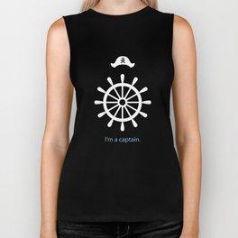 I'm a captain.(on black) Biker Tank
